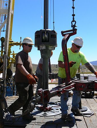 Drillers install casing