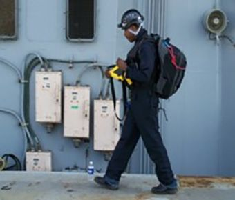 Responder performs radiological search operations