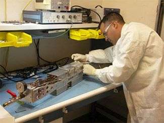 Mike Cardenas working on a Gated X-Ray Detector